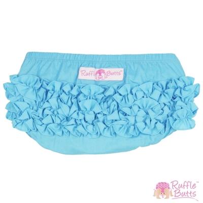 RuffleButts 小女童荷葉邊包屁褲-愛麗絲藍