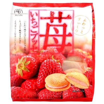 # 柿原製果 半生草莓夾心蛋糕(136g)