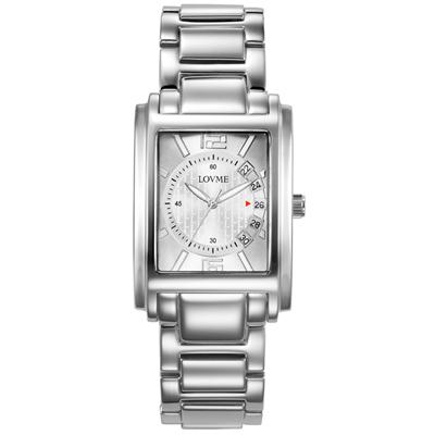 LOVME 旅行時光設計腕錶-銀色/32mm