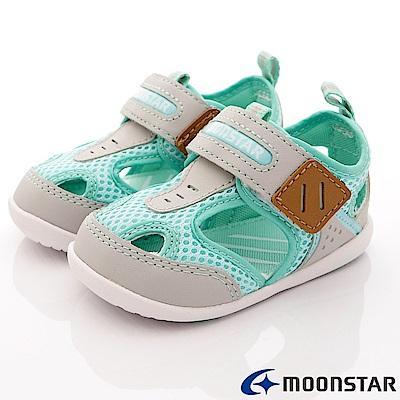 日本月星頂級童鞋 護趾機能涼鞋 BEI77綠(寶寶段)