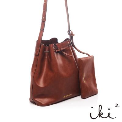 iki2時尚包-發現寶石-公主綁帶水桶包-巧克力鑽
