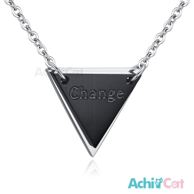 AchiCat 珠寶白鋼項鍊 幸福時刻 三角