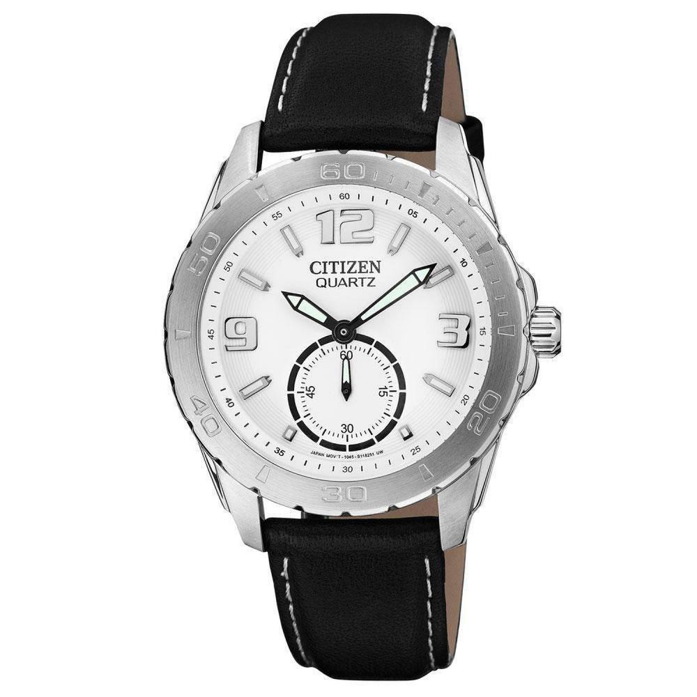 CITIZEN 魅力小秒針都會時尚腕錶(AO3010-05A)-白/41mm