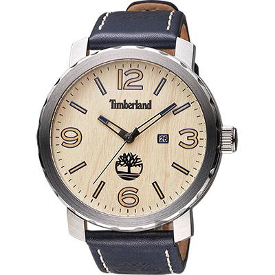 Timberland Pinkerton 木紋休閒大錶面腕錶-黃x黑/50mm