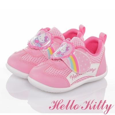 HelloKitty 彩虹系列 輕量透氣抗菌防臭減壓學步童鞋 粉