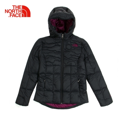 The North Face北面女款黑色鵝絨保暖羽絨外套|3CGRJK3