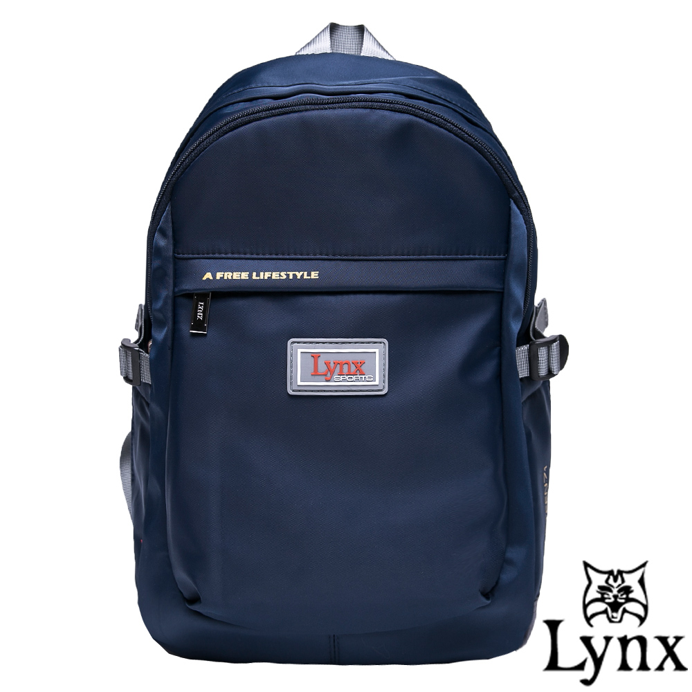 Lynx - 山貓城市悠遊款輕便簡約質感後背包-深海藍