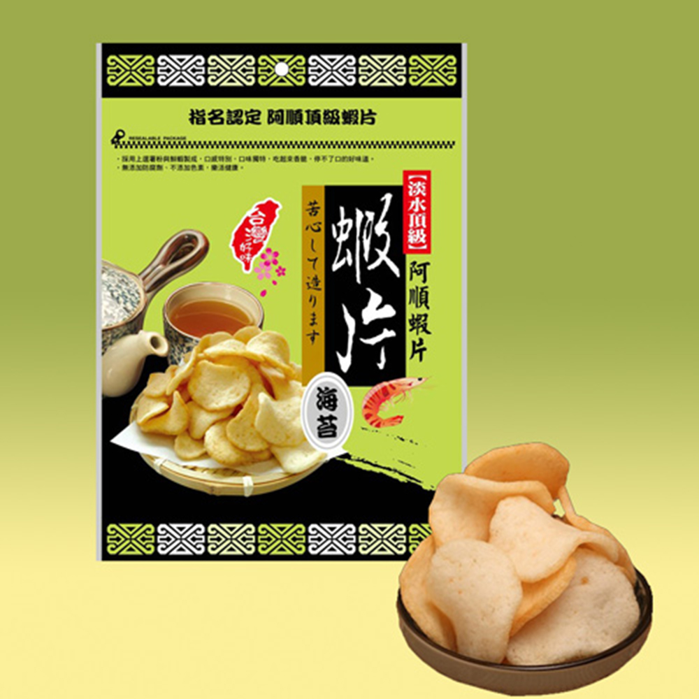 阿順頂級蝦片 - 海苔口味x10包
