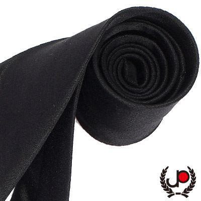 極品西服 藝文氣息 沉著感素面絲質領帶-夜黑