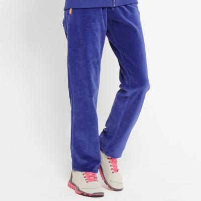 TOP-GIRL-絨質抽繩長褲-金屬丈青藍