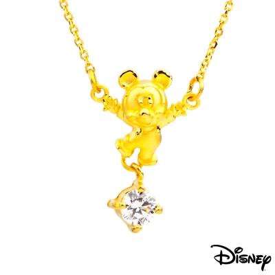 Disney迪士尼金飾 開心米奇黃金項鍊