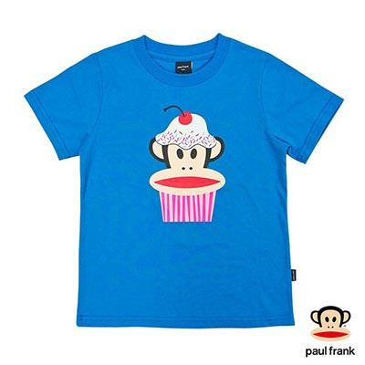 Paul Frank-杯子蛋糕Julius印花短袖T恤-藍(童)