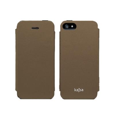 Kajsa Neo-Classic iPhone 5/5S/SE 牛皮側翻皮套-...