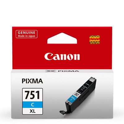 CANON CLI-751XL-C 原廠藍色高容量XL墨水匣
