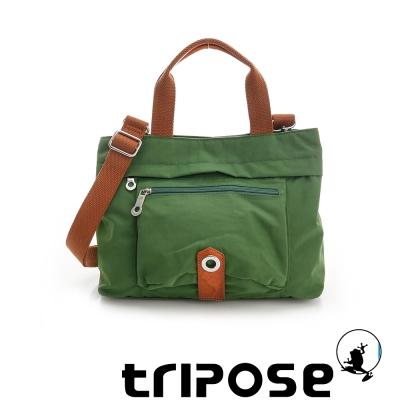 tripose 微旅系列輕旅機能後背斜背包 草地綠