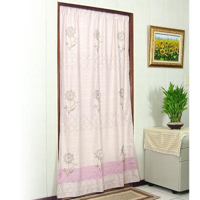 布安於室-向日葵一片式長門簾-淺紫