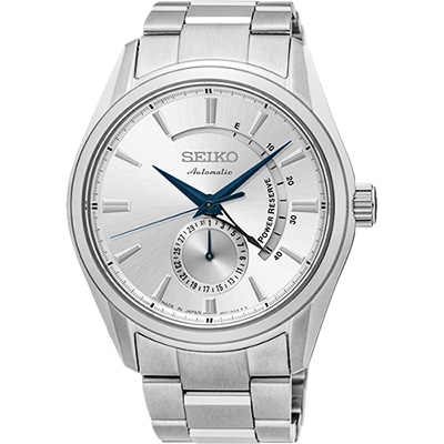 (無卡分期6期)SEIKO PRESAGE 動力儲存機械腕錶(SSA303J1)-銀/42mm