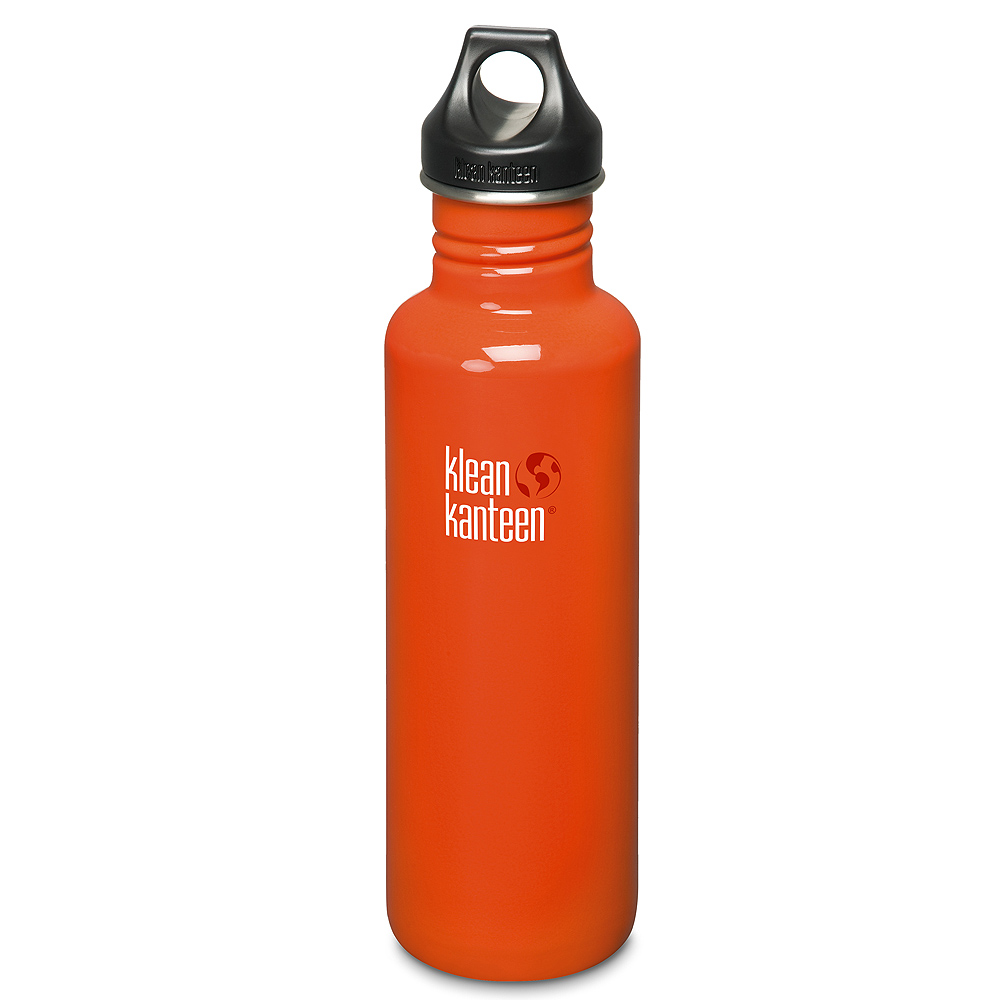 美國Klean Kanteen不鏽鋼瓶800ml-火燄橘