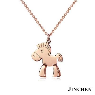 JINCHEN 白鋼木馬項鍊