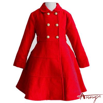 Anny貴氣高雅高級雙排金釦大衣*9279紅