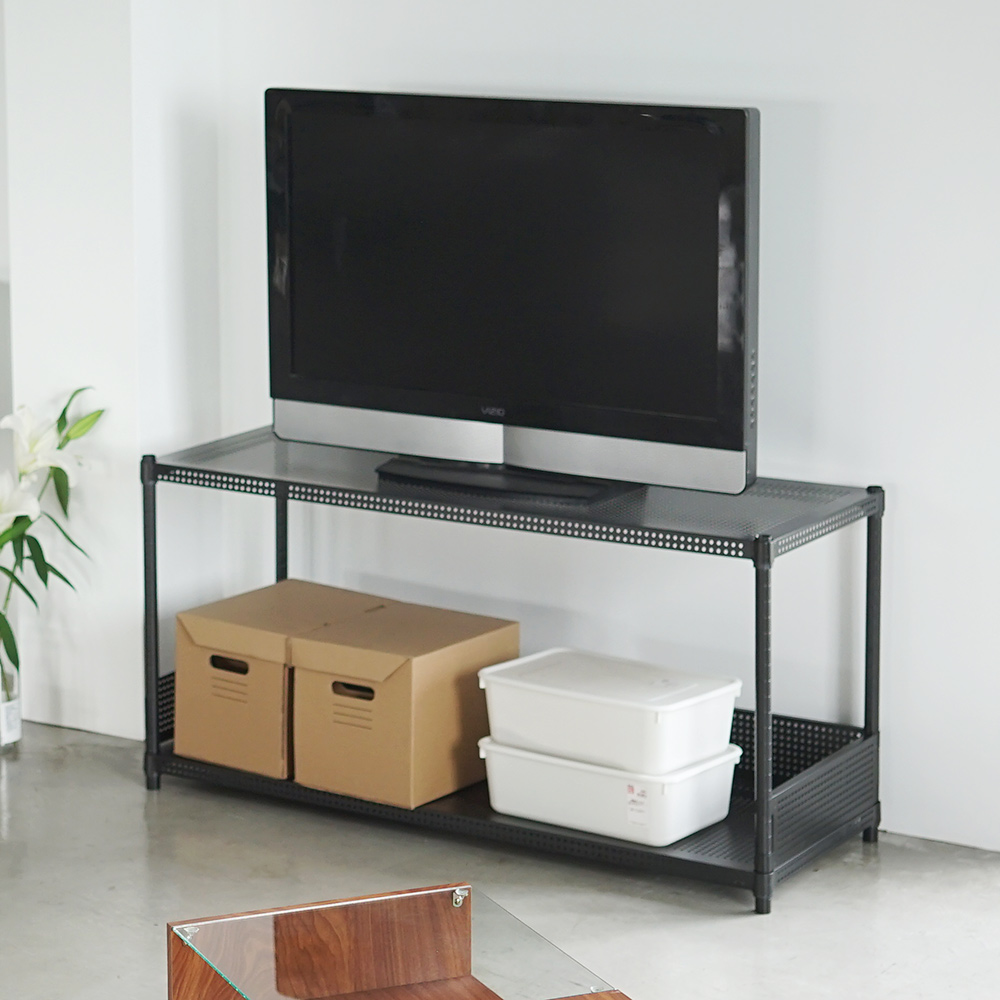 Home Feeling 平面沖孔二層波浪架附圍欄(2色)-120X45X60cm-DIY