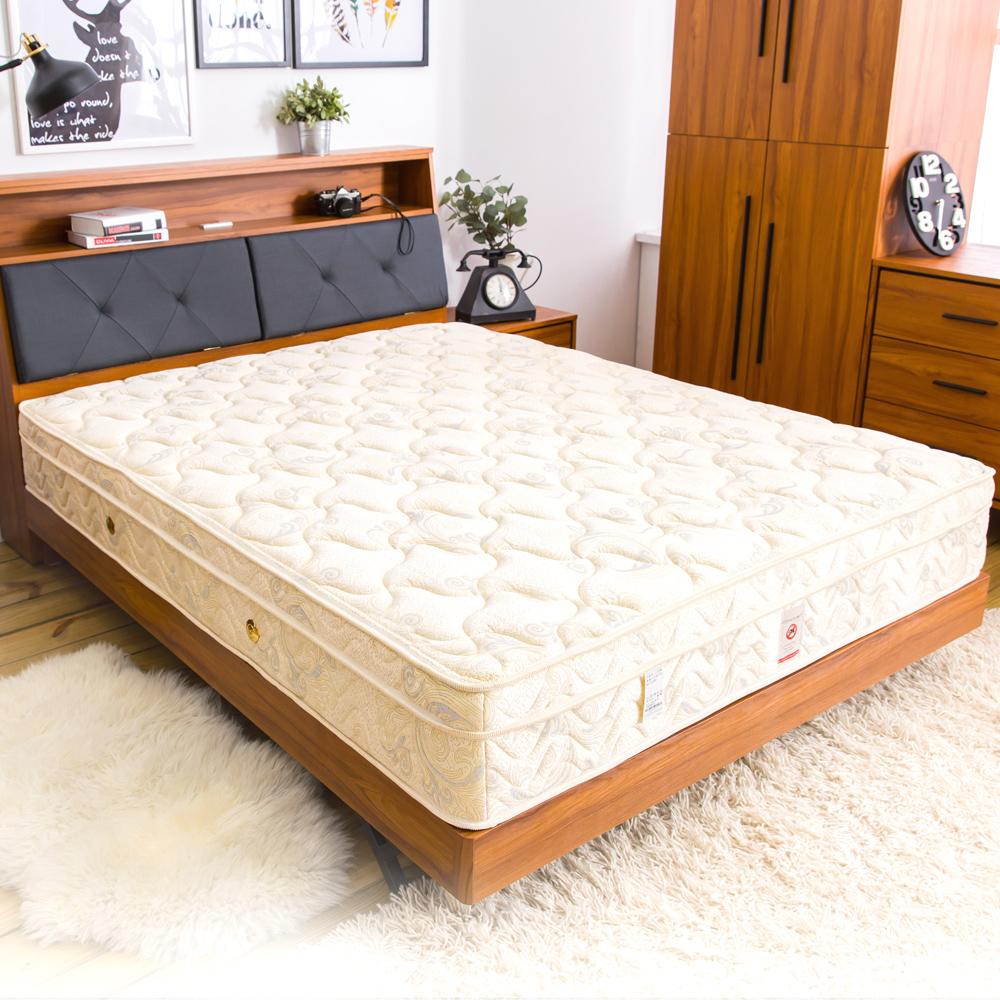 時尚屋 莫爾新一代高級透氣蜂巢竹炭平三線3.5尺加大單人床墊