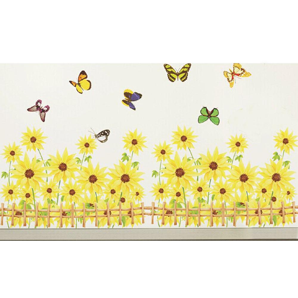 A-056花草系列-圍欄踢腳線 大尺寸高級創意壁貼 / 牆貼