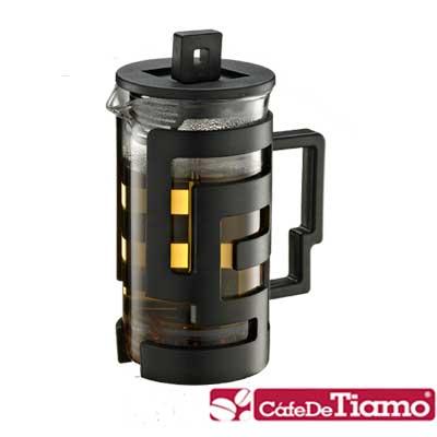 Tiamo 幾何圖文法式濾壓壺 300cc-二色 (HG2114)