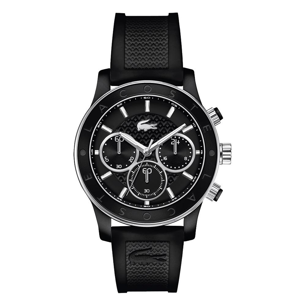Lacoste 鱷魚 sport 時尚TR90計時腕錶-黑/40mm