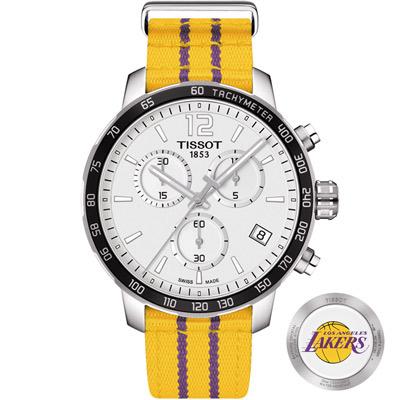 TISSOT 天梭 X NBA 洛杉磯湖人隊特別版腕錶-42mm