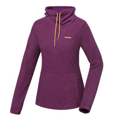 ATUNAS 歐都納 女款平價奢華長袖保暖寬領衫  A 1 -P 1642 W 紫紅