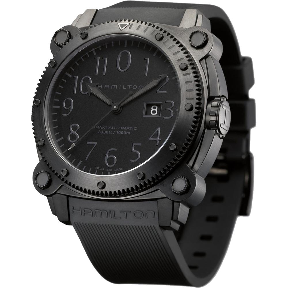 Hamilton KHAKI NAVY卡其海軍1000米潛水機械腕錶 H78585333