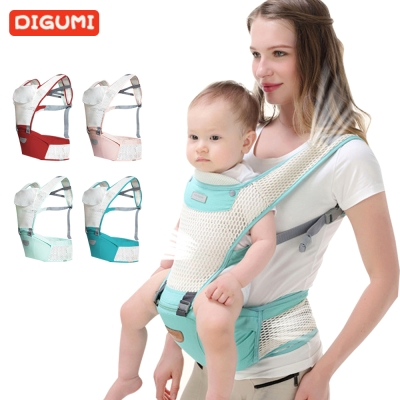DIGUMI嬰兒雙肩背帶透氣前抱嬰腰凳