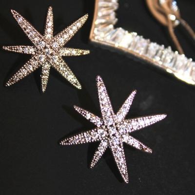 梨花HaNA    晶瑩鑽飾雪花星星碎鑽耳環