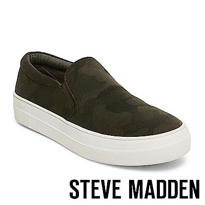 STEVE MADDEN-GILLS 厚底懶人鞋-迷彩綠