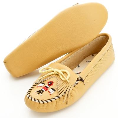 MINNETONKA 自然系美國手工雷鳥真皮鞋底開車室內鞋 (展示品)