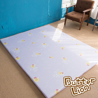 奶油獅 正版授權台灣製造-葉語純棉紙纖三合一記憶床墊-雙人加大6尺(幻紫)