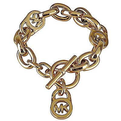 Michael Kors 氣質經典LOGO穿式手鏈(金色)