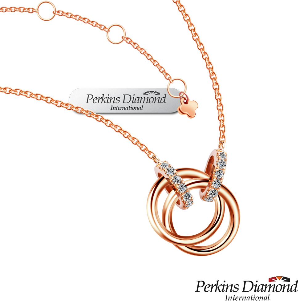 PERKINS 伯金仕 - Cercle系列 14K玫瑰金鑽石項鍊
