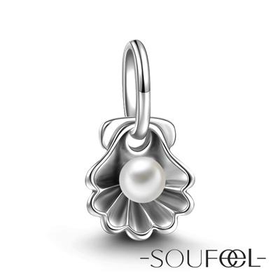 SOUFEEL索菲爾 925純銀珠飾 珍珠貝殼 吊飾