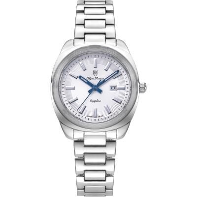 奧柏表 Olym Pianus 聚焦 石英腕錶-白 33mm  5706LS