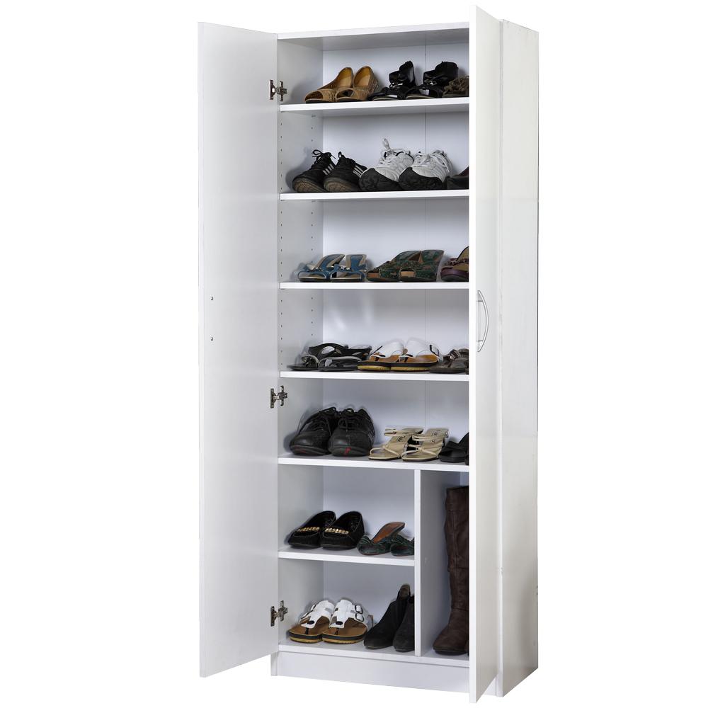 妮娜-二門鞋櫃/收納櫃-(白色)