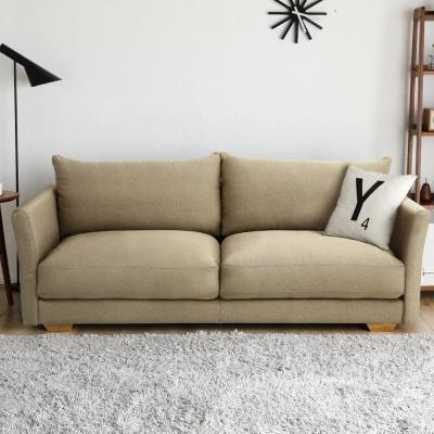 H&D 瑪德琳厚造型三人座布沙發(2色)