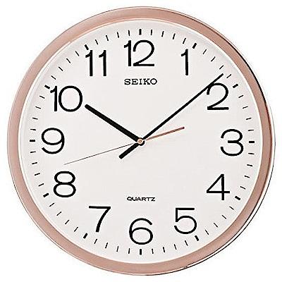 SEIKO 精工 嚴謹細節製作 滑動式秒針 時鐘 掛鐘(QXA620P)-40cm