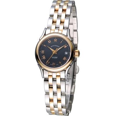 梭曼 Revue Thommen 華爾街系列時尚女用機械錶-銀色+玫瑰金色/25mm