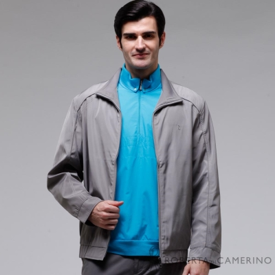 ROBERTA諾貝達 台灣製 經典休閒夾克外套 中灰