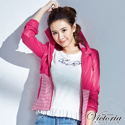 Victoria 優雅印花縫珠圓領衫-女-白色