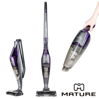 MATURE美萃 直立式無線吸塵器鋰電版 29.6V絕美紫灰