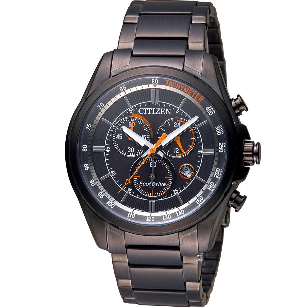 CITIZEN 星辰 光動能計時腕錶(AT2136-87E)紅x黑/43mm