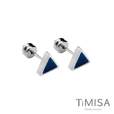 TiMISA 幾何派對-三角形 針式純鈦耳環-共三色